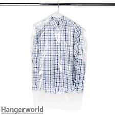 """Hangerworld™ 50 Clear 38"""" Polythene Clothes Cover Garment Storage Protector Bag"""