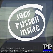 1 x Jack Russell inside-window, Auto, Furgone, autoadesivo, Firmare, Adesivo, CANE, PET, sul bordo,