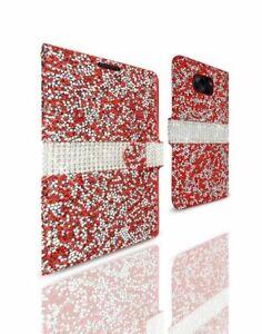 REIKO SAMSUNG GALAXY S7 EDGE DIAMOND RHINESTONE WALLET CASE IN RED