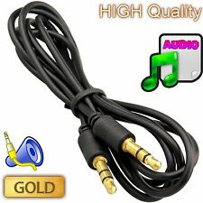 1.5M Gold Plated 3.5mm Jack Audio Cable Headphone MP3 iPod TV Male To Male Cord