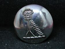 Seaside Beacon Torch Light w Ladder 27mm S/P Livery Button Pitt 20th C.