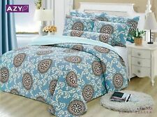 100% Cotton Reversible  Quilted Bedspread/Coverlet Queen Size  3pcs Set 1701