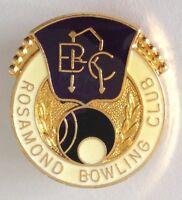 Rosamond Bowling Club Badge Pin Vintage Lawn Bowls (L18)