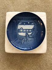 1985 Bing & Grondahl Plate B & G Christmas Eve At The Farmhouse Denmark 9085