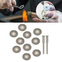 10pcs Diamond Cutting Disc Wheel & Rotary Rods Jewelry DIY Making Grinding Tool