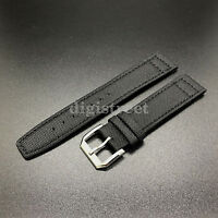 Canvas Diving Leather Strap Band + Buckle for IWC Pilot Top Gun Portuguese Watch