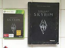 Xbox 360 SKYRIM The Elder Scrolls V & SKYRIM game GUIDE BOOK both with maps