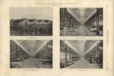 1900 Lugansk Locomotive Works South Russia Shops Weigh Bay Framing Bay