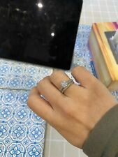 1ct Moissanite Ring Silver Band With One Complimentary Eternity Ring