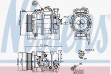 NISSENS 89090 AC Compressore Mercedes Benz E-Class W211 05 -