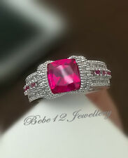 Luxury Simulated Pink Diamond Ring/White gold/R113