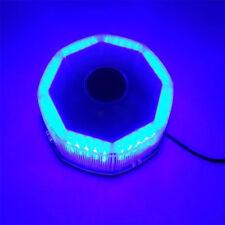12v 240 LED Flash Strobe Rotating Round Beacon Rooftop Emergency Blue Light Bar