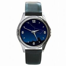 Big Dipper Major Constellation Star Gazer Astronomy Leather Watch New!