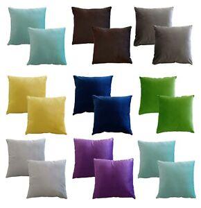 Luxury Soft Matt Velvet Set of 2 Sofa Bed Chair Cushion Covers Only