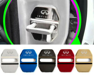 4PCS Stainless Steel Car Door Lock Latches Striker Cover Protector for Infiniti