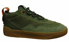 Puma Cali Zero Demi Army Green Leather Low Lace Up Mens Trainers 372453 01