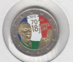 FRANCE - 2 euros 2010 (appel du 18 juin) (colorisé)