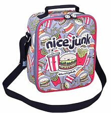 DAVID AND GOLIATH - JUNK FOOK INSULATED SCHOOL LUNCHBAG - GREY