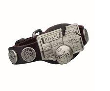 New Diesel Genuine Leather Unisex Men Women Bracelet Dark Brown Only the Brave