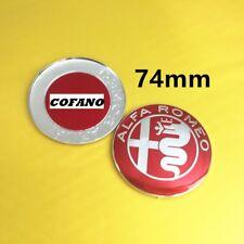 Logo ALFA ROMEO 74mm rosso nero RED WHITE sticker adesivo giulietta mito 147 159