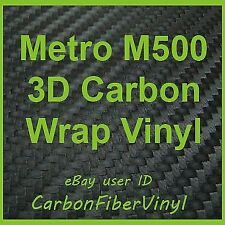 Metro M500 3D Carbon Fiber Vinyl Wrap Sheet 12in x 36in