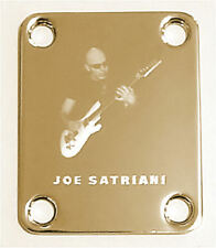 GUITAR NECK PLATE Custom Engraved Etched - Chickenfoot JOE SATRIANI - Gold