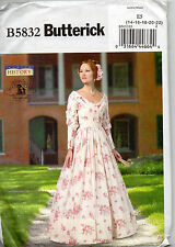 Butterick 5832 Ladies Southern Belle Costume Pattern Halloween Reenactment 14-22