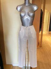 "Eden Rock Trousers Size M Cream Linen 31"" Inside Leg RRP £98 NOW £44"