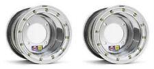 """DWT 9"""" 9x8 Rear Beadlock Wheels Rims Polished TRX450R 400EX 250R 400 ATC 350X"""