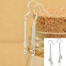 50PCS Silver Earring Jewelry Making Findings ROLO Chains Hooks Earwire For Bead