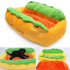 Hot Dog Shape Pet Bed Dog Cat Puppy House Soft Cushion Warm Kennel Pad Large New