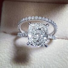 2.70ct Natural Cushion Pave Diamond Engagement Bridal Set - GIA Certified