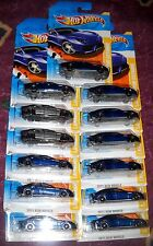 2011 Hot Wheels NEW MODELS #48 ∞ LAMBORGHINI ESTOQUE ∞ LOT OF 13 BLUE & GRAY