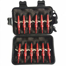 12Pcs Red Archery Broadheads 100Grain Compound Bow Crossbow Hunting Arrows Tips