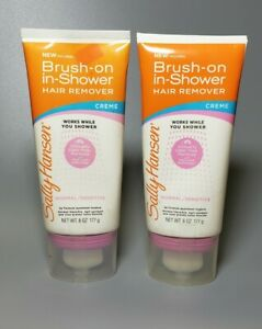 Sally Hansen Brush-On in Shower Hair Remover Creme 6 oz. (Lot of 2)
