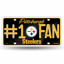 Pittsburgh Steelers #1 Fan Metal License Plate Tag Wall Sign FAST USA SHIPPING