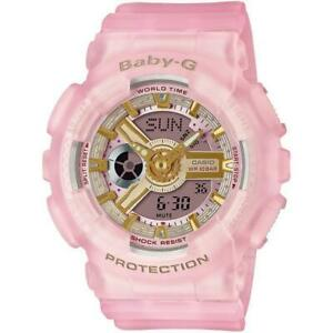 Casio Ladies BA-110SC-4AER Baby-G World Time Alarm 100m W/R Official Stockist
