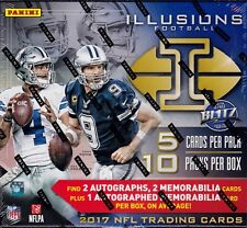 2017 Panini Illusions Football sealed hobby box 10 packs of 5 cards 3 auto
