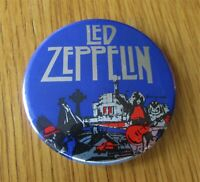 LED ZEPPELIN  LARGE VINTAGE METAL PIN BADGE FROM 1970's SONG REMAINS THE SAME