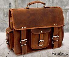 Fatto a mano Hunter Pelle Borsa A Tracolla Valigetta Laptop Messenger Bag (prezzo consigliato £ 129.99)