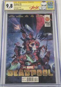 Deadpool #42 La Mole Autograph Signed by Stan Lee & Clayton Crain CGC 9.8 SS MCU