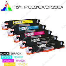 Set of 5 PK CE310A 126A Laser Toner For HP Color LaserJet Pro 100 MFP M175 M275