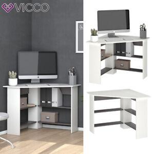 Eckschreibtisch Schreibtisch Bürotisch Arion 90x90cm weiß Computertisch Vicco