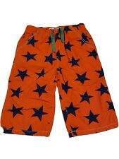 Mini Boden  Boy size 11 Navy Stars Orange Shorts