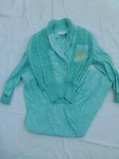Vintage Womens Sideffects Sweater Like Top And Pant Set Size S #V67