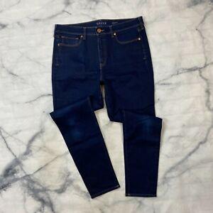 Spanx 5 Pocket Skinny Jeans Size 32 Womens Dark Wash High Rise Stretch Denim