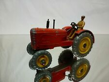 DINKY TOYS 300 TRACTOR MASSEY HARRIS - RED - GOOD CONDITION