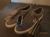 Fred Perry Underspin Suede shoes in falcon grey UK 7 US 8 EU 41 Ortholite