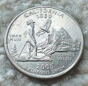 Quarter Dollar 2005P USA California State Coin  By coin_lovers