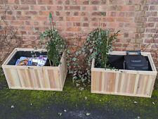 Bin Garden 100L Flower Planters HIDE kerbside Recycling Boxes / Food waste bins